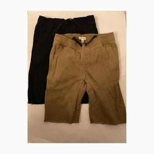 Tucker + Tate Boys Khaki & Black Shorts Size Large
